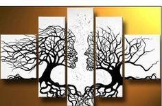 """Love Tree Ii""modern Handicraft Oil Painting on Canvas Art Decor Wall (No Frame)"