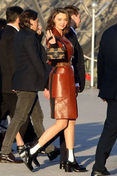 Miranda Kerr arrives at the Louis Vuitton's Dinner for the Launch of Bags by Artist Jeff Koons at Musee du Louvre on April 11 2017 in Paris France