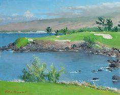 Maunakea 3rd Hole | by Peter Hayward (1905-1993) #PeterHayward #Oil #CedarStreetGalleries