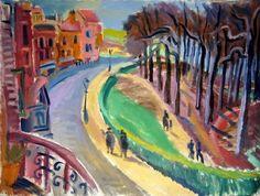 Carl Rabus Promenade, 1938, Öl auf Leinwand