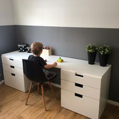 Ikea Kids Desk, Ikea Hack Kids, Kids Room Design, Home Office Design, Ikea Small Bedroom, Ikea Stuva, Fashion Room, Boy Room, Room Inspiration