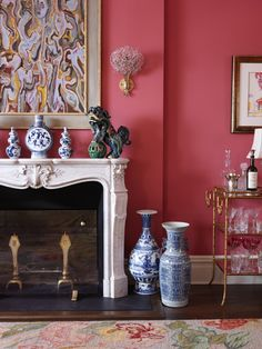 Chinoiserie Chic: Styling The Chinoiserie Mantel - Sources & Inspiration Board