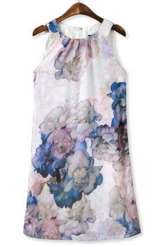 Floral Halter Bodycon Dress -