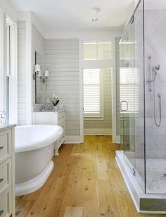 15 Best Wood Floor Bathroom Images