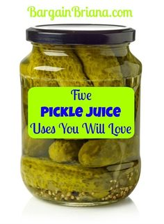 Bargainbriana shows us five awesome pickle juice uses that will blow you away. Who knew the salty brine was so powerful? Dill Pickle Juice Recipe, Pickle Juice Uses, Pickle Juice Benefits, Drinking Pickle Juice, Mixed Pickle, Best Pickles, Pickled Garlic, Budget Meals, Budget Recipes