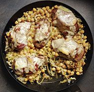 I have all these pork medallions in the freezer.  Thanks folks. Pork Medallions with Chickpeas and Cabbage