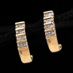 Shop 14KY .16ctw Diamond Half Hoop Earrings and other jewelry, art, coins, rugs and real estate at www.aantv.com