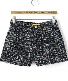 Shorts Tweed lentejuelas-negro 15.73