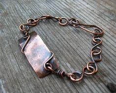 Copper Link Bracelet Handmade Copper Jewelry by ZorroPlateado on Etsy https://www.etsy.com/listing/151066386/copper-link-bracelet-handmade-copper