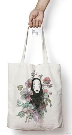 Printed Tote Bags, Canvas Tote Bags, Qinni, Anime Drawings Sketches, Line Branding, Tote Bags Handmade, Shopper Bag, Reusable Tote Bags, Handbags