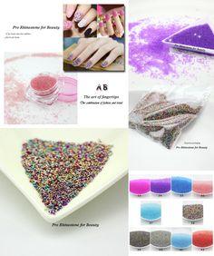 [Visit to Buy] Charming Color AB Shiny Caviar Manicure Nail Art Decoration Micro Beads 0.6-0.8mm Charming Rhinestone Art Decoration #Advertisement