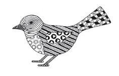 Doodle Tangles - Vogel