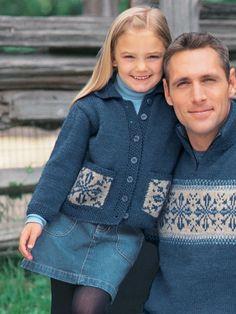 Child's Snowflake Sweater | Yarn | Free Knitting Patterns | Crochet Patterns | Yarnspirations