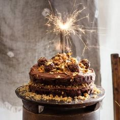 Ferrero Rocher Chocolate Hazelnut Cake By Nadia Lim Chocolate Hazelnut Cake, Chocolate Sponge Cake, Baking Recipes, Cake Recipes, Dessert Recipes, Keto Recipes, Ferrero Rocher Chocolates, Caking It Up, Big Cakes