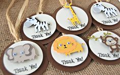 Jungle Safari Zoo Birthday Party Favor Tags by WeBringTheParty