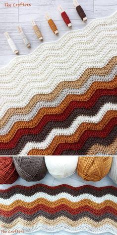 Crochet Ripple Stitch - Free Patterns and Inspiration | Crochetpedia Stitch Crochet, Crochet Stitches Free, Crochet Wool, Crochet Quilt, Beginner Crochet Blankets, Autumn Crochet, Crochet Baby, Chevron Crochet Blanket Pattern, Crochet Ripple Afghan