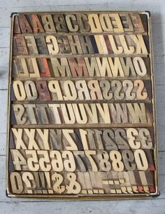Letterpress Wood Type (109) Pieces $195 - Chicago http://furnishly.com/catalog/product/view/id/2088/s/letterpress-wood-type-109-pieces/