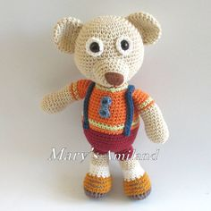 Sean Bear The Ami By Mary's Amiland - Purchased Crochet Pattern - (ravelry)