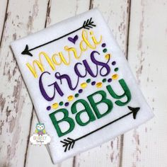 Mardi Gras Baby  Mardi Gras shirt or bodysuit by GingerLyBoutique