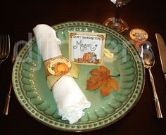 Thanksgiving dinner place setting, Thanksgiving printables