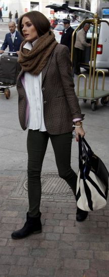 Olivia Palermo: Sunglasses – Westward Leaning Purse – Chloe Scarf – CH HC Shoes – Report