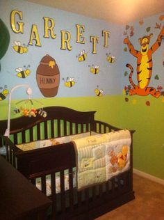 Winnie the Pooh nursery kid room ideas. Www.galoreplanninghouston.com