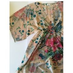 Kimono sheer dress Brand new. Never worn. Fits spacious. Solemio Dresses Midi