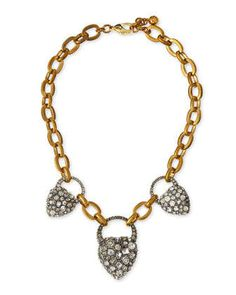 Blackheart Rhinestone Necklace by Lulu Frost at Neiman Marcus.