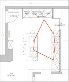 Plan de cuisine avec îlot central : les 6 exemples à suivre | FLOOR ...