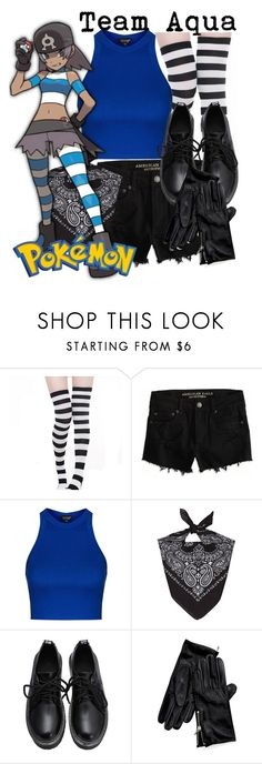 """""""Pokemon - Team Aqua"""" by didneyworl ❤ liked on Polyvore featuring American Eagle Outfitters, Topshop, Tommy Hilfiger, women's clothing, women, female, woman, misses and juniors"""