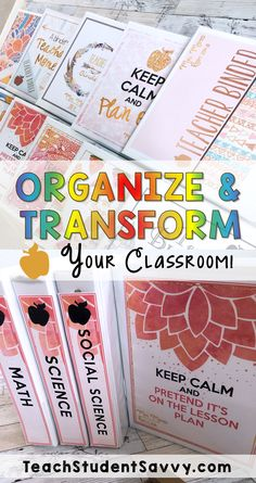 Tips to Organize and Transform Your Classroom! Ideas to help get rid of clutter, free up your space, and organize your teaching supplies. These tips helped me to feel more ZEN at my school!