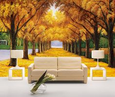 Parede arte adesivos grande 3d tridimensional mural papel de parede sofá tv fundo pintura a óleo ouro(China (Mainland))