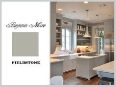 Sally Wheat Kitchen: Benjamin Moore Fieldstone