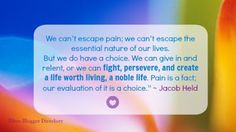 Fibro Blogger Directory: Blogging prompt: Pain perceptions