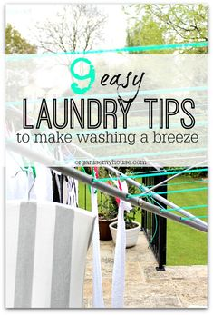 A list of great tips to help laundry time go that much easier. Do you have any laundry tips to share? Please leave a comment!