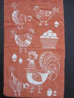 Vintage Chicken Kitchen Towel