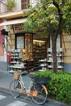 Sorrento, Naples, Italy on bicycle Places Around The World, Oh The Places You'll Go, Places To Travel, Around The Worlds, Beautiful World, Beautiful Places, Naples Italy, Dream Vacations, Italy Travel