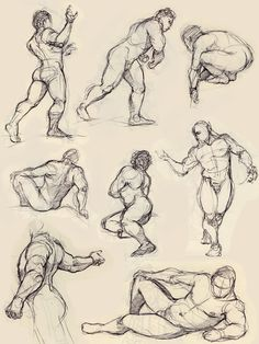 some figure drawing by ~Luthie13 on deviantART