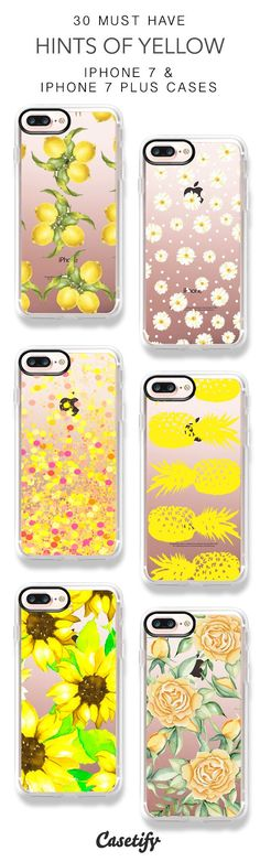 30 Must Have Hints of Yellow iPhone 7 Cases and iPhone 7 Plus Cases. More Colorful protective iPhone case here > https://www.casetify.com/collections/top_100_designs#/?vc=toEJySmgVC