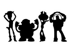 OHIO Mickey and Toy Story Sports svg. Silhouette Projects, Silhouette Cameo, Silhouettes Disney, Images Disney, Disney Ideas, Clipart Black And White, Toy Story Party, Disney Shirts, Disney Fonts