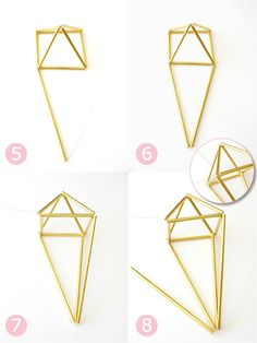 DIY Geometric Himmeli Party Decor - learn to craft diamond shaped decorations us. - DIY & Crafts - The Dallas Media Geometric Box, Geometric Decor, Geometric Shapes, Diy Centerpieces, Diy Party Decorations, Himmeli Diy, Fun Crafts, Diy And Crafts, Decoration Crafts