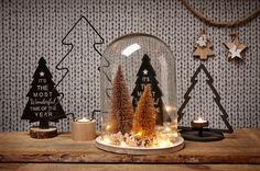 Zet je kerstdecoratie en -verlichting eens onder een stolp! #kerst #kerstdecoratie #kerstverlichting #kwantum #wonen #interieur #stolp Christmas Mood, Christmas Is Coming, Christmas Signs, Vintage Christmas, Christmas Decorations, West Home, Terrarium Diy, Merry Xmas, Christmas Inspiration