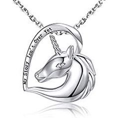 6392f43ff MANBU 925 Sterling Silver Charm Dog Uuicorn Owl Horse Elephant or Devil  Wings Pendant Necklace Animal Pet for Women or Girls Affiliate