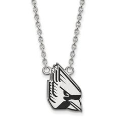 Sterling Silver LogoArt Official Licensed Collegiate 18in Ball State University (BSU) Enamel Large Pendant w/Necklace. Licensed and Official. Sterling Silver,925 Sterling,. Collegiate- Ball State University. Licensed By:NCAA. Certificate of Authenticity Card Included.