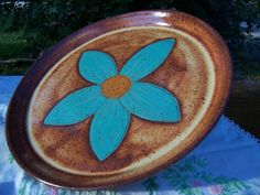 10in serving platter/pie plate in cinnamon by DaisyPassPottery