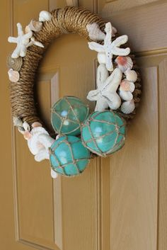 coastal door wreath how to from MissKopyKat