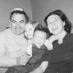 """Hillary Rodham with father Hugh, mother Dorothy and brother Hugh Jr., in an undated photo that was posted to her Facebook account with the message: """"I wish my mother could have been with us longer ... I wish she could have seen the America we're going to build together ... An America where a father can tell his daughter: Yes, you can be anything you want to be. Even President of the United States."""" --Hillary"""