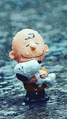 Charlie Brown & his Snoopy ❤ Snoopy Love, Snoopy E Woodstock, Peanuts Movie, Peanuts Cartoon, Peanuts Gang, Rain Cartoon, Snoopy Wallpaper, Animal Wallpaper, Charlie Brown Und Snoopy
