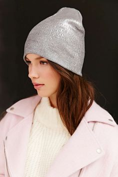 Silence + Noise Shine Foil Beanie #UrbanOutfitters
