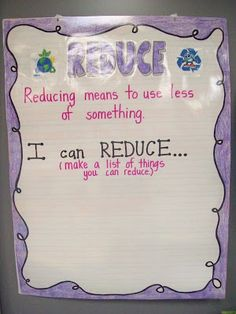 """reduce"", ""reuse"", ""recycle"" anchor charts"